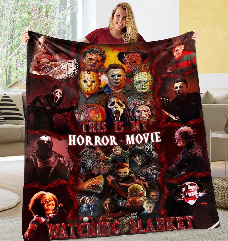 This is horror movie watching blanket