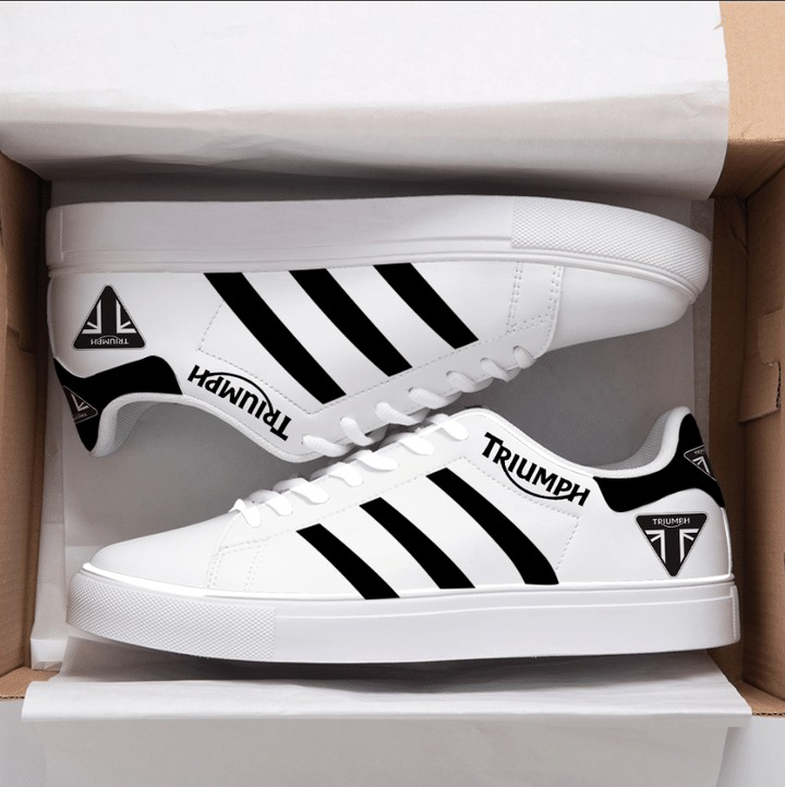 Triumph Black And White Stan Smith Shoes
