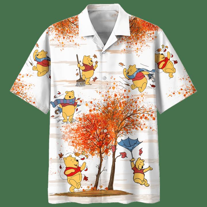 Winnie the pooh autumn time hawaiian shirt
