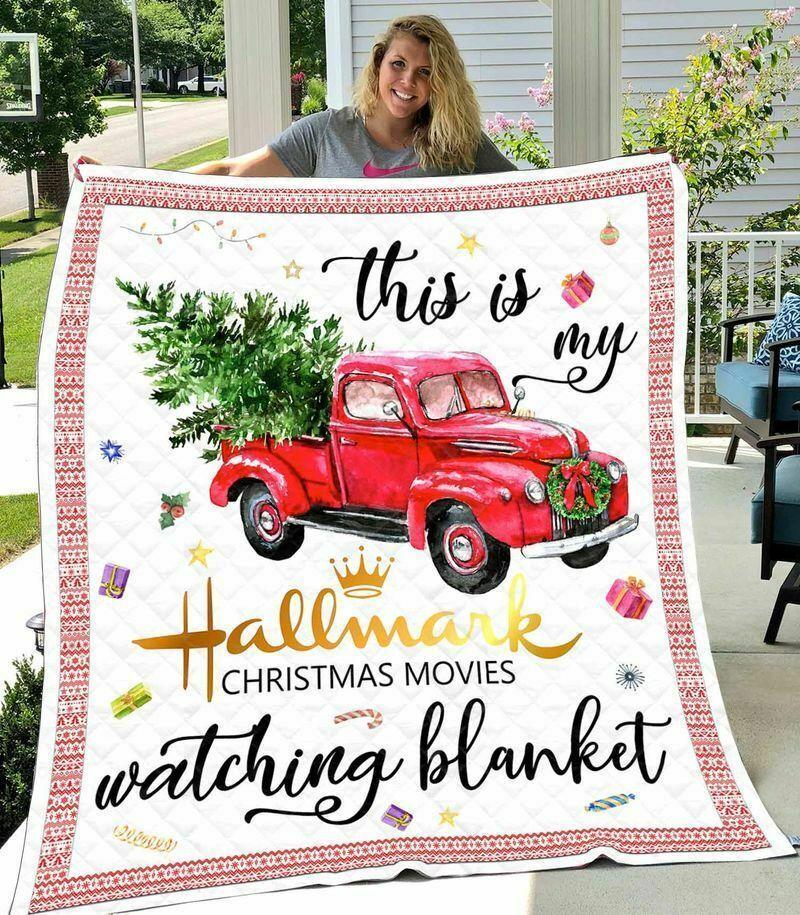 This is my hallmark christmas movie watching blanket - maria