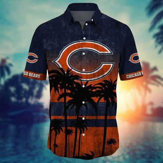 Chicago bears NFL hawaii shirt short - BBS