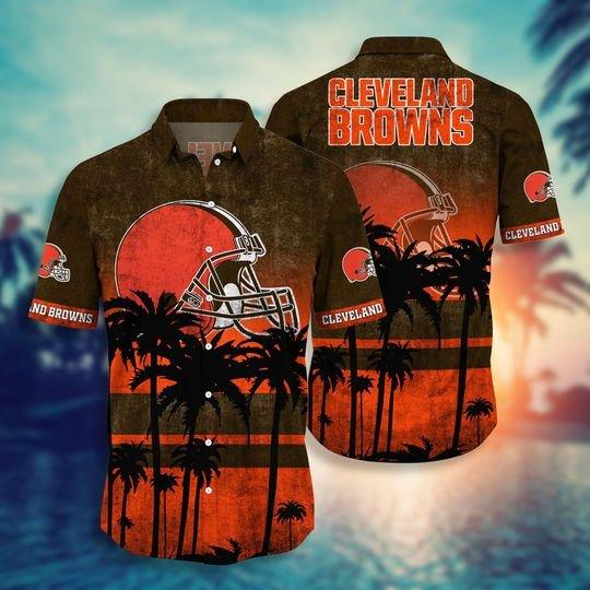 Dleveland browns NFL hawaii shirt short - BBS