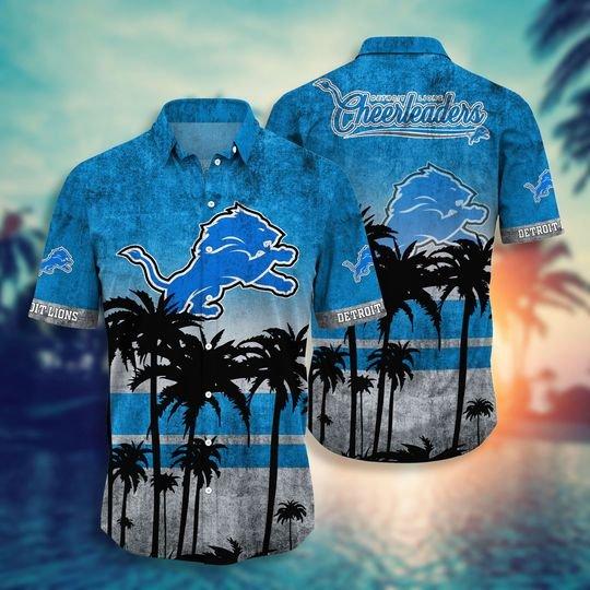 Detroit lions NFL hawaii shirt short - BBS