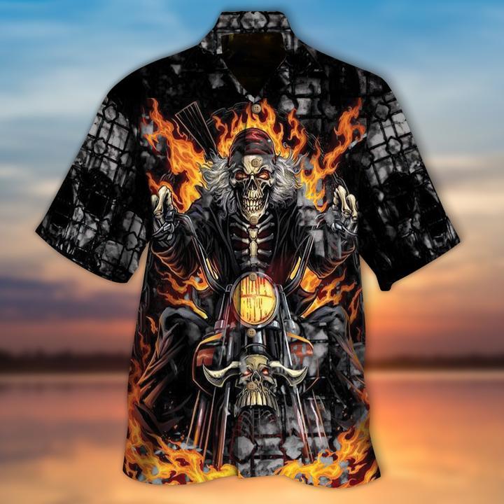 Biker Skull Hawaiian Shirt - LIMITED EDITION
