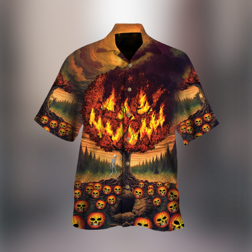 Spooky Pumpkin Village Hawaiian Shirt - LIMITED EDITION