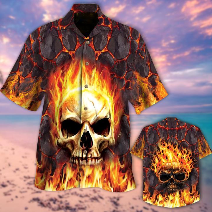 Skull Lava Hawaiian Shirt - LIMITED EDITION