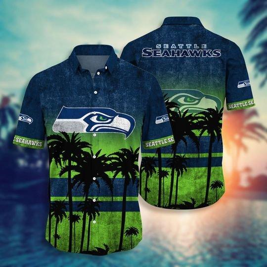 Seattle seahawks NFL hawaii shirt short - BBS