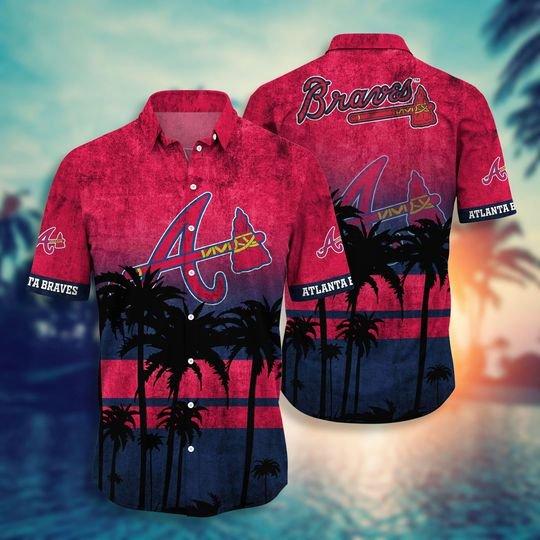 Atlanta braves MLB hawaii shirt short - BBS