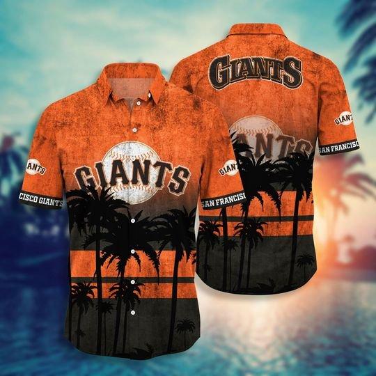 San Francisco Gaints MLB hawaiian shirt short - BBS