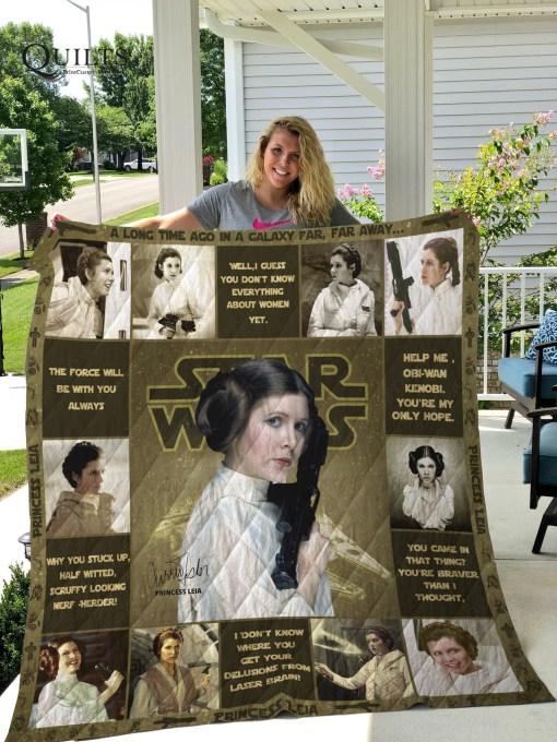 Star Wars Princess Leia Quilt Blanket