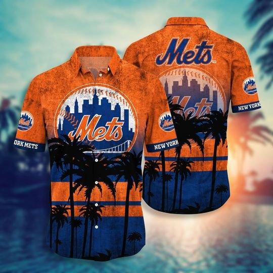 New York Mets MLB hawaiian shirt short - BBS