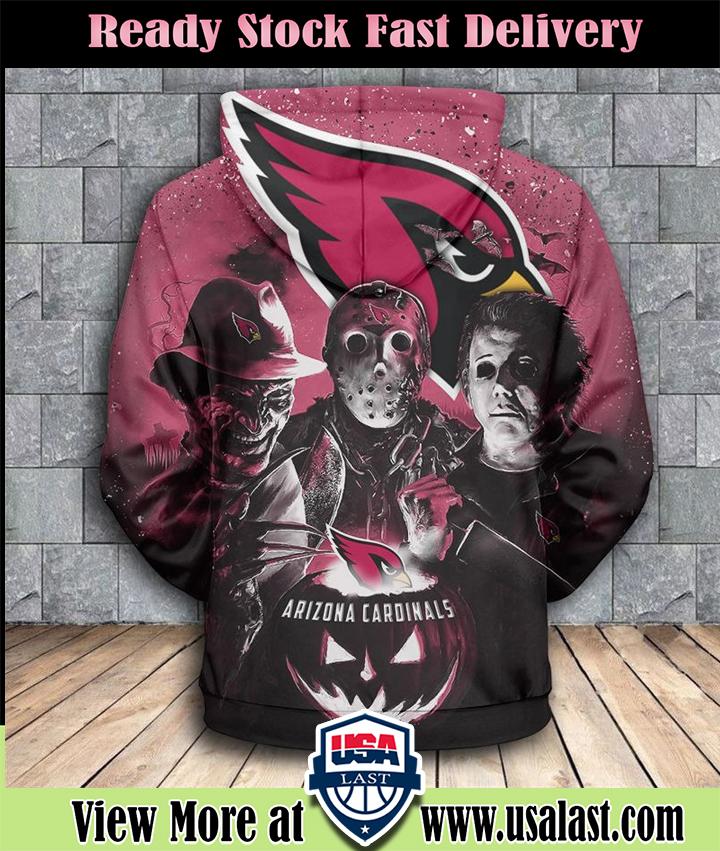 Arizona Cardinals Halloween Horror Night 3D Pullover Hoodie