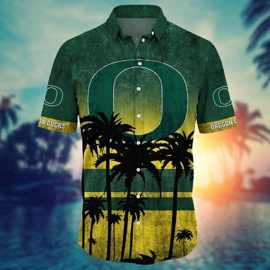 Oregon ducks hawaii shirt short - BBS