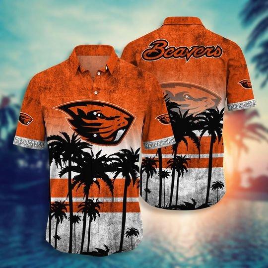 Oregon state beavers hawaii shirt short - BBS