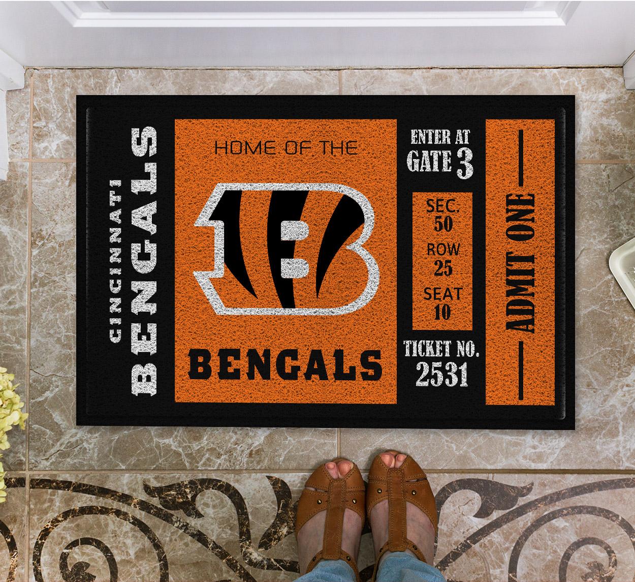 NFL Cincinnati Bengals Team Ticket Runner Doormat