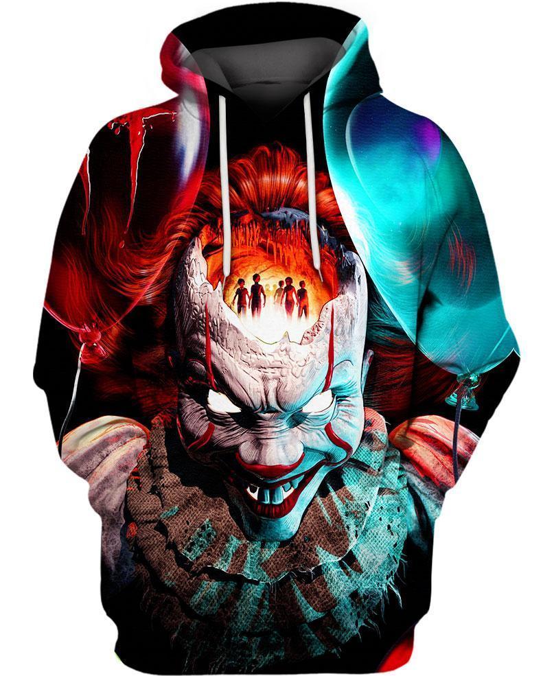 IT pennywise 3d hoodie and 3d hoodie - maria