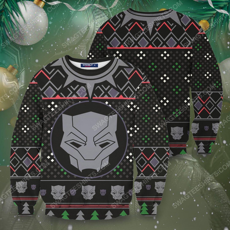 A wakanda black panther ugly christmas sweater 1