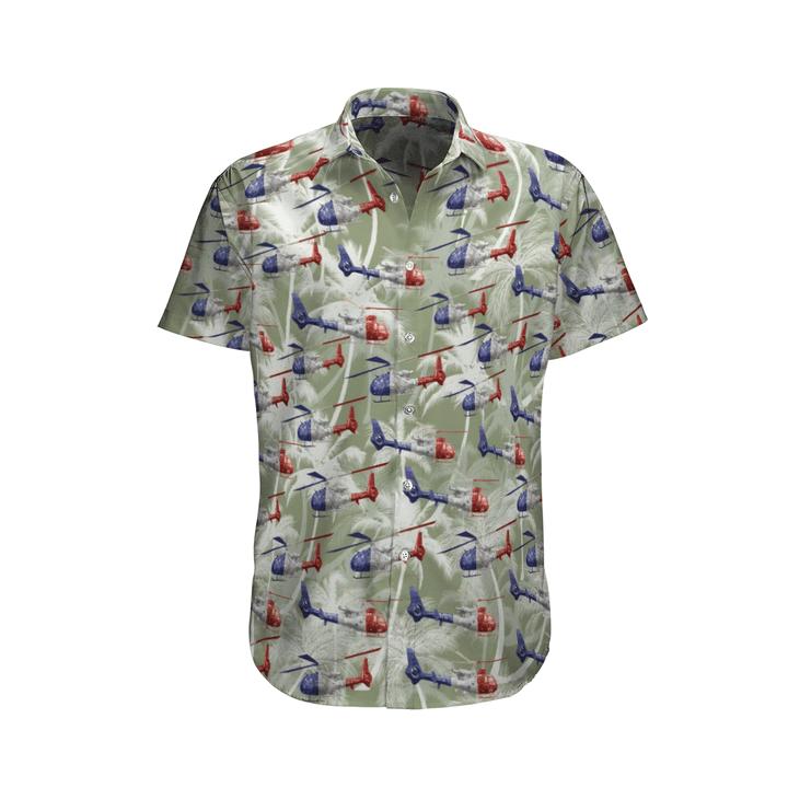Aérospatiale gazelle french army hawaiian shirt and shorts