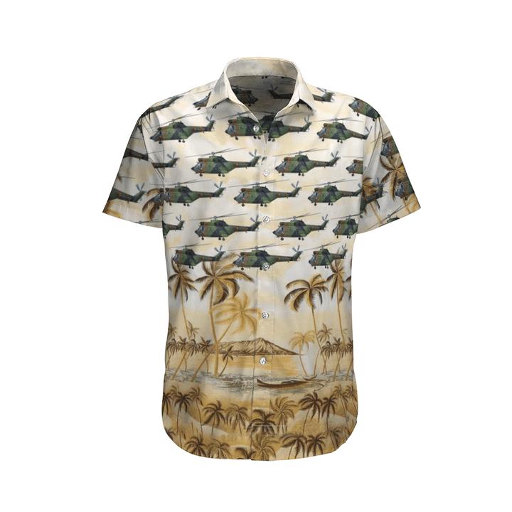 Aérospatiale sa 330 puma french army hawaiian shirt