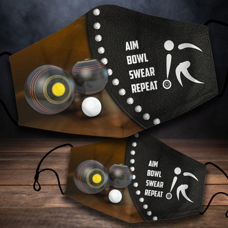 Aim Bowl Swear Repeat Face Mask - Hothot 090921