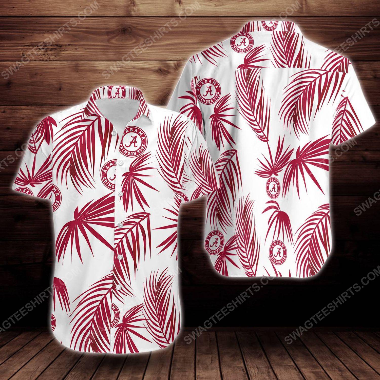 Alabama crimson tide football short sleeve hawaiian shirt 1