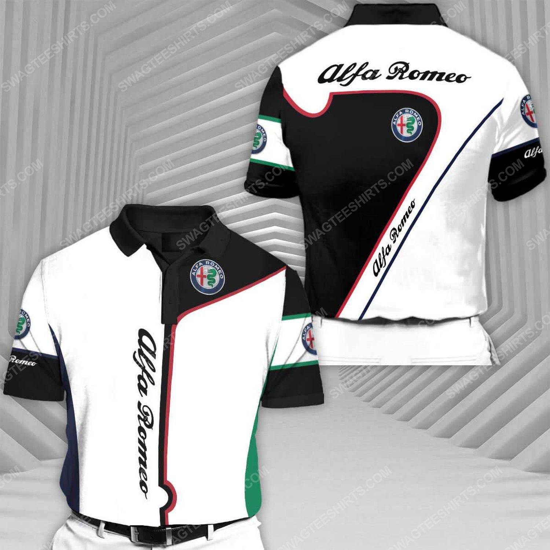 Alfa romeo automobiles racing all over print polo shirt