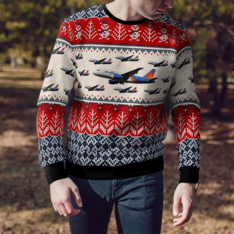 Allegiant air airbus A319 all over print sweater