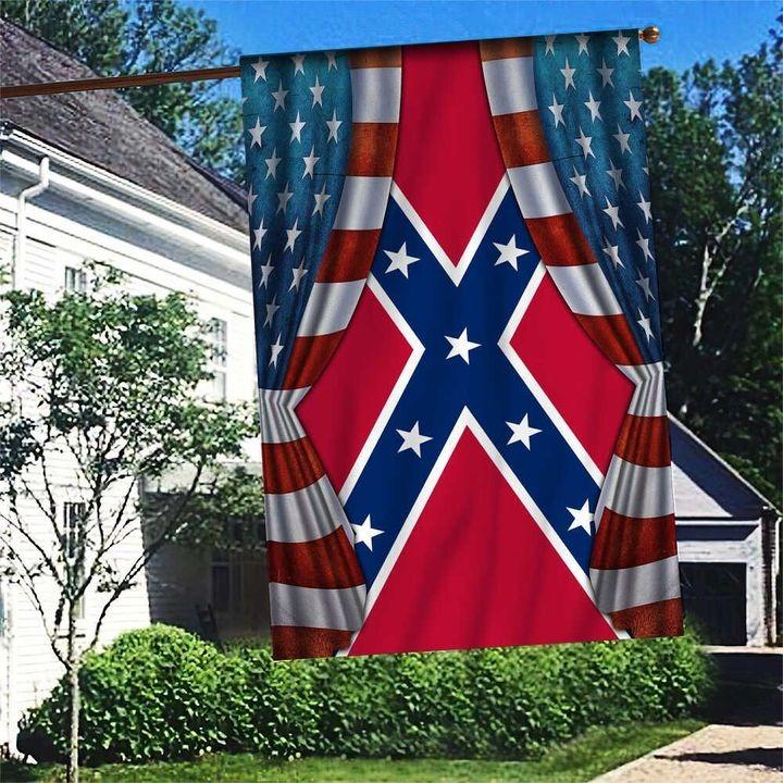 American Flag Blood Inside Me Confederate House Flag Garden Flag - Hothot 030921