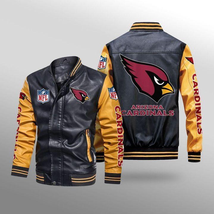 Arizona Cardinals Leather Bomber Jacket - LIMITED EDITION