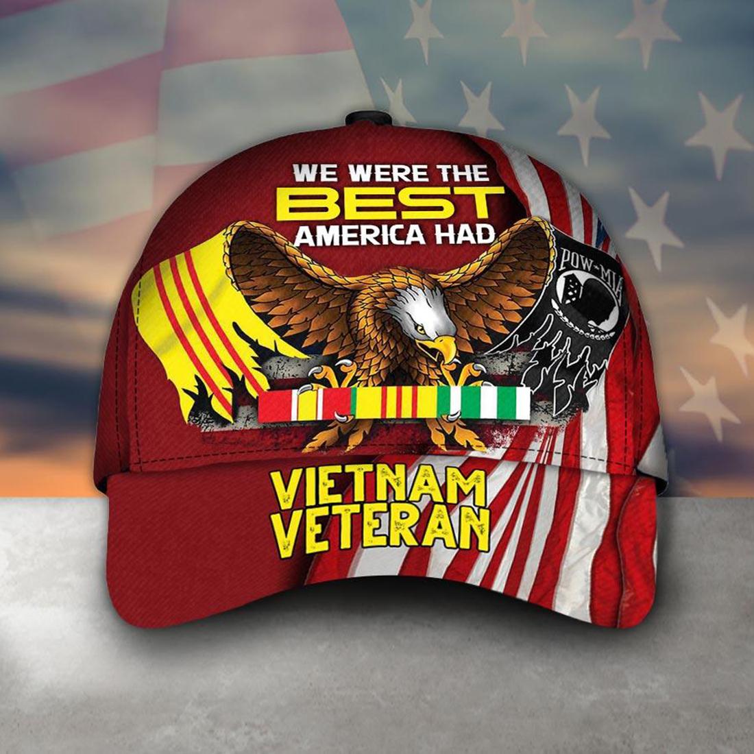 Armed forces Vietnam veteran America soldier cap hat