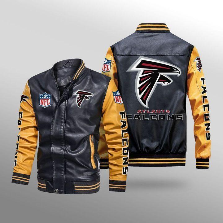Atlanta Falcons Leather Bomber Jacket - LIMITED EDITION