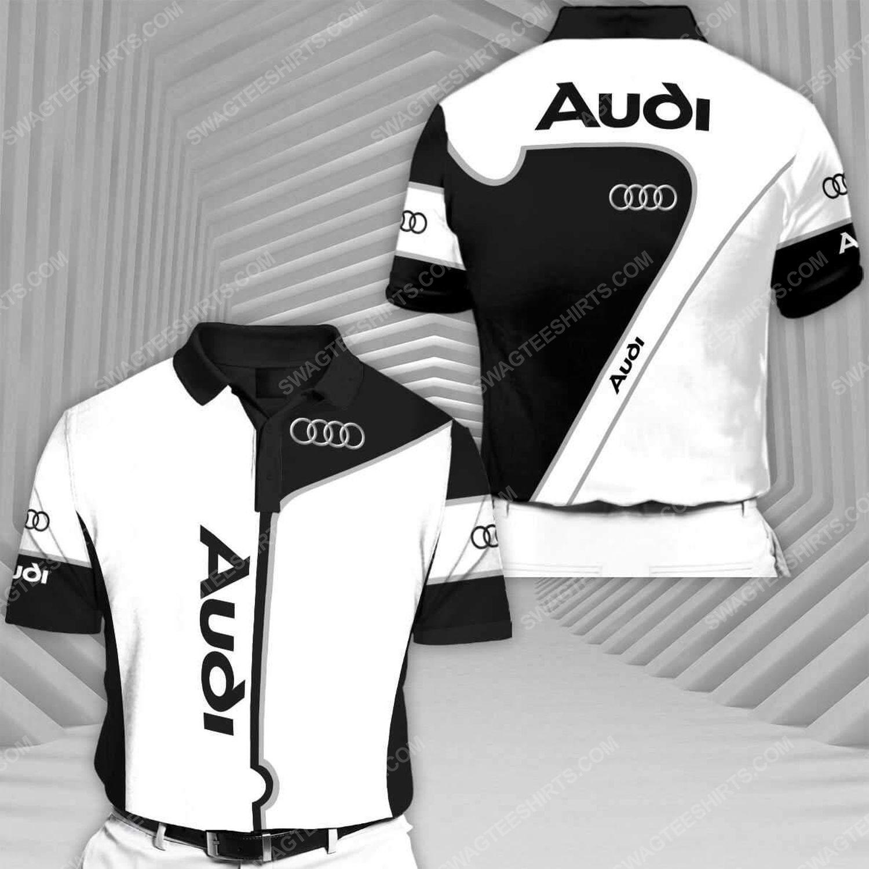 Audi sports car racing all over print polo shirt