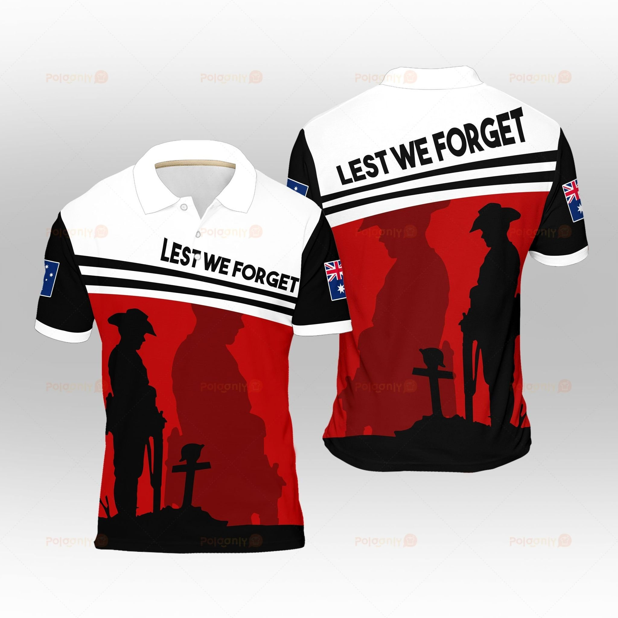 Australia Veteran Lest We Forget Polo Shirt - LIMITED EDITION
