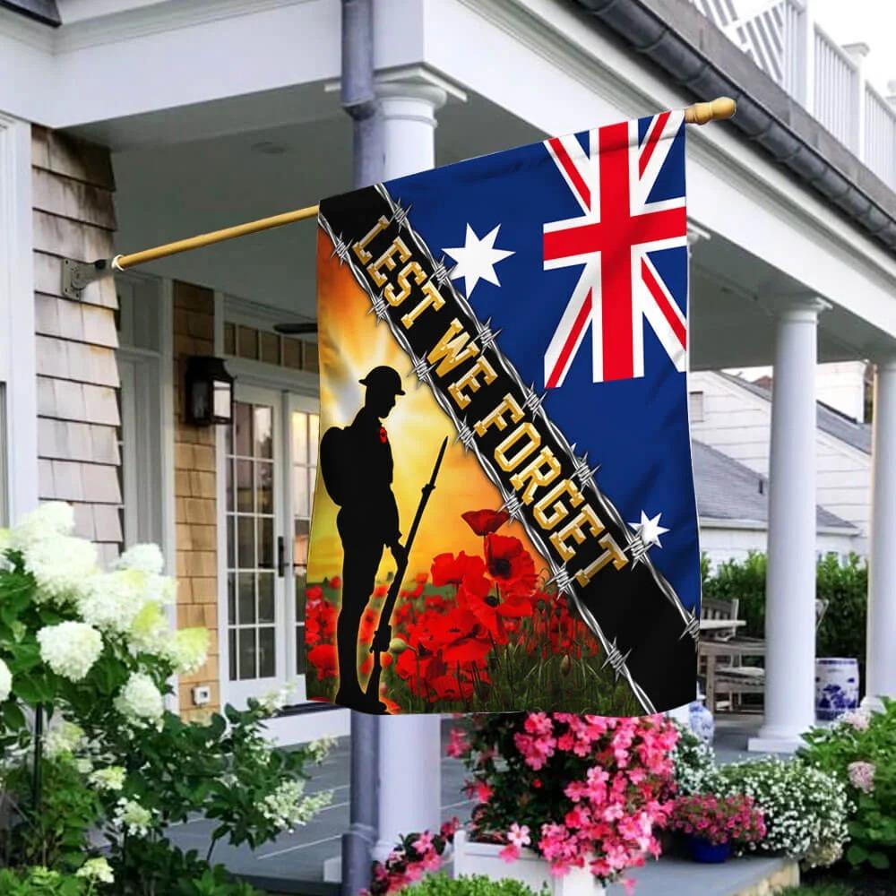 Australian Veteran Flag Lest We Forget - Hothot 030921