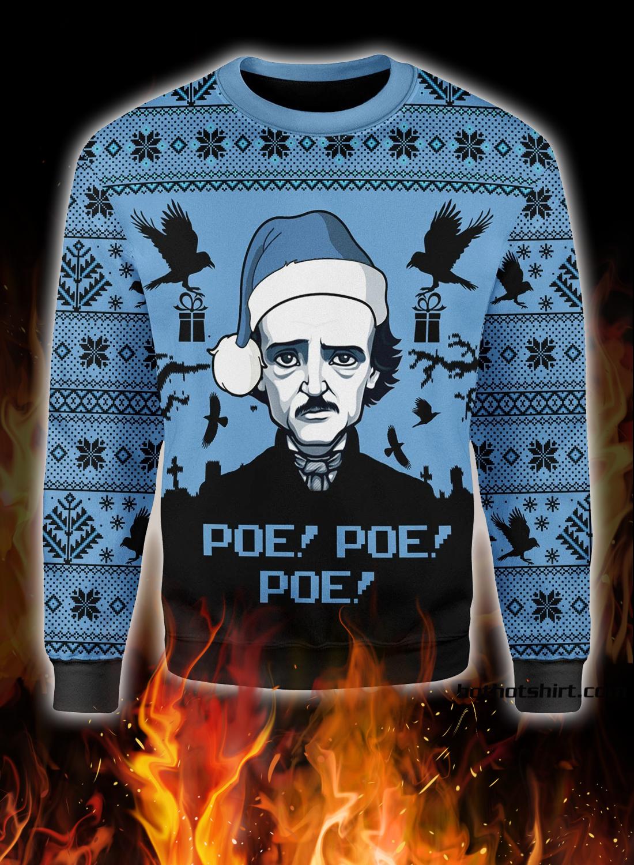 Edgar Allan Poe Poe Poe christmas ugly sweater