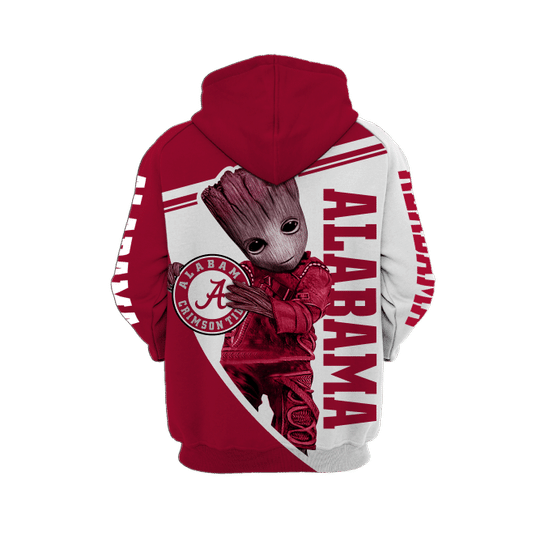 Baby Groot Alabama crimson tide 3d all over print hoodie - LIMITED EDITION