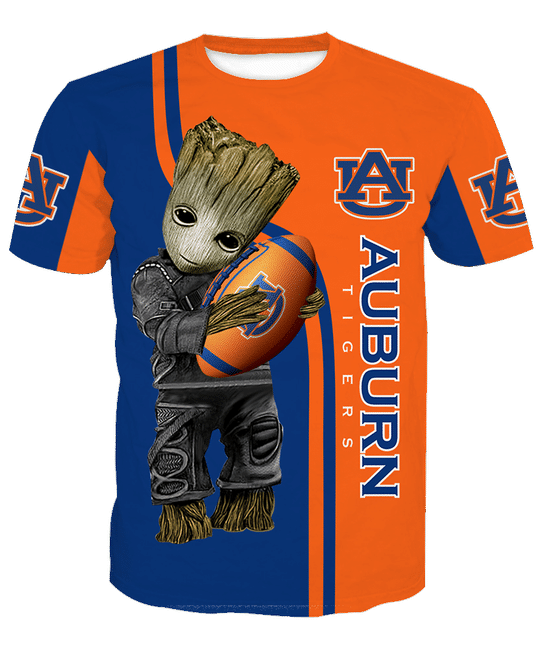 Baby Groot Auburn tigers 3d all over print hoodie - LIMITED EDITION