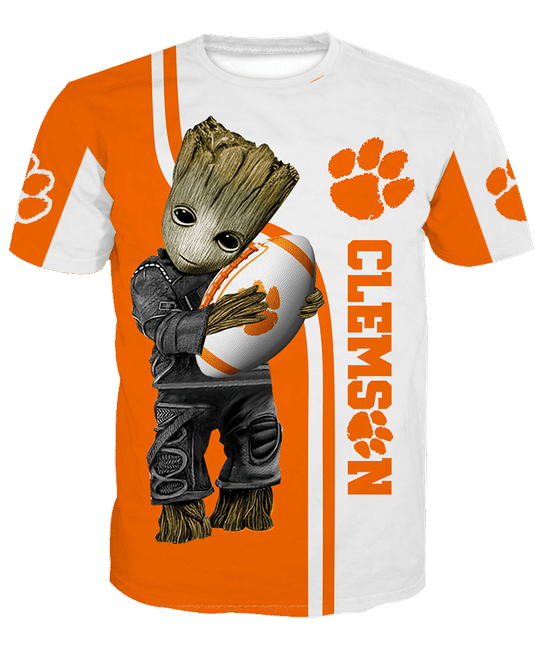 Baby Groot Clemson tigers 3d all over print hoodie - LIMITED EDITION