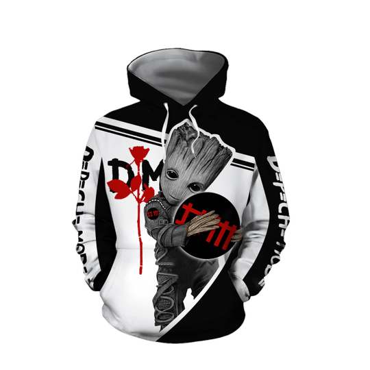 Baby Groot Depeche mode  3d all over print hoodie - LIMITED EDITION