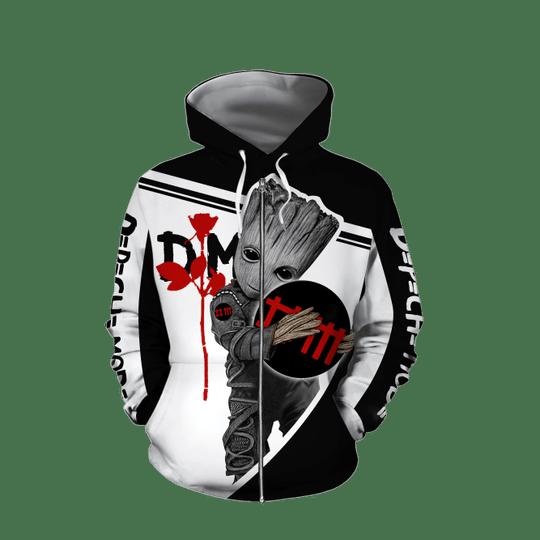 Baby Groot Depeche mode 3d all over print hoodie4