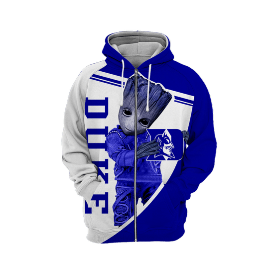 Baby Groot Duke blue devils 3d all over print hoodie - LIMITED EDITION
