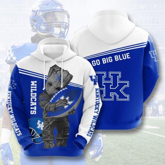 Baby Groot Kentucky wildcats 3d all over print hoodie