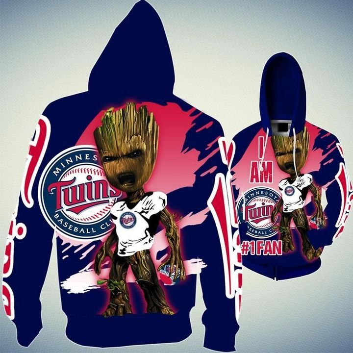 Baby Groot Minnesota twins hoodie - LIMITED EDITION