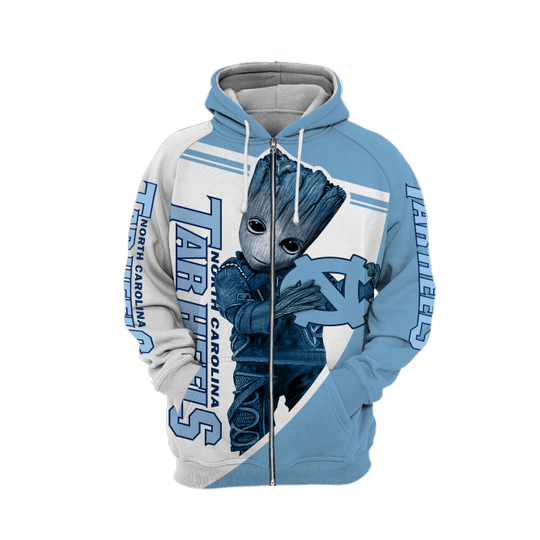 Baby Groot North carolina tar heels 3d all over print hoodie - LIMITED EDITION