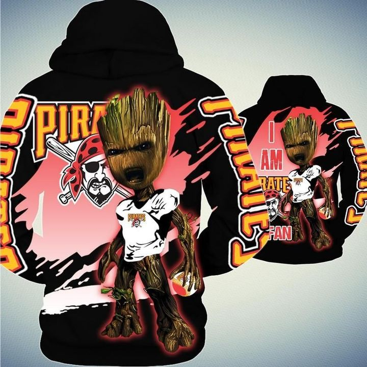 Baby Groot Pittsburgh pirates hoodie - LIMITED EDITION