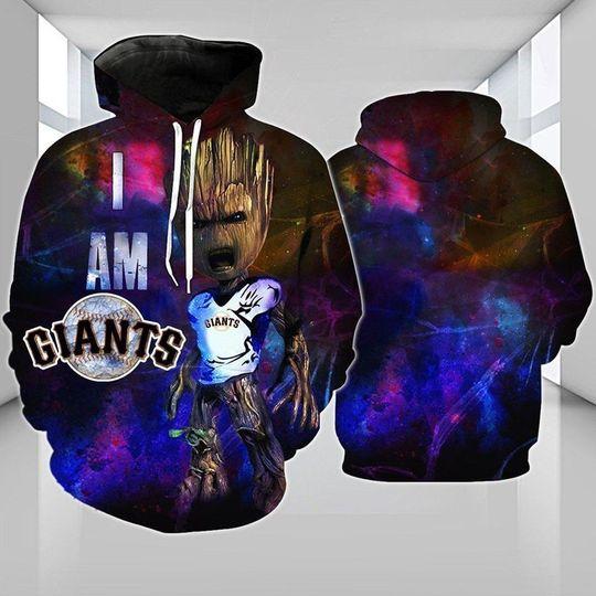 Baby Groot San francisco giants 3d all over print hoodie