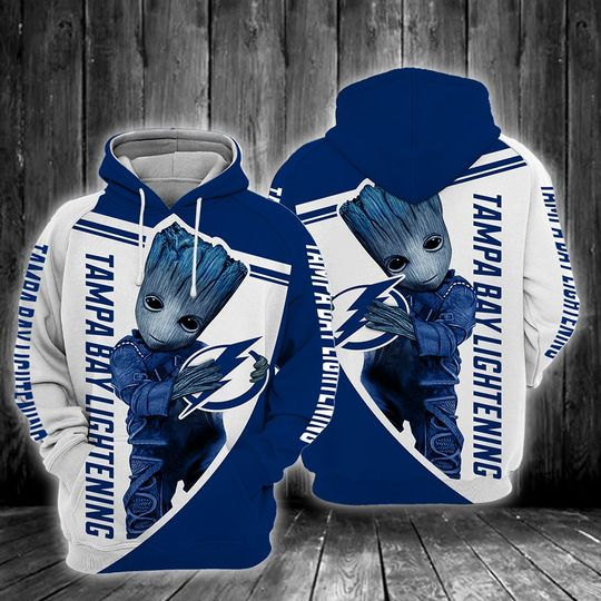 Baby Groot Tampa bay lightning 3d all over print hoodie