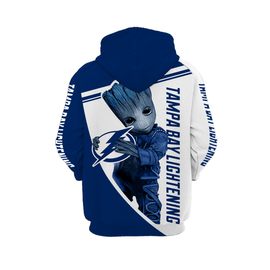 Baby Groot Tampa bay lightning 3d all over print hoodie - LIMITED EDITION