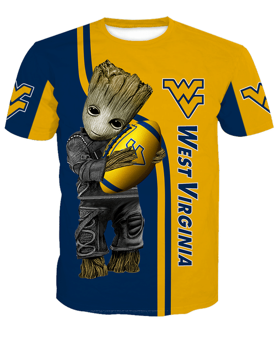 Baby Groot West virginia mountaineers 3d all over print hoodie - LIMITED EDITION