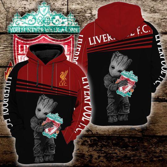 Baby Groot liverpool 3d all over print hoodie